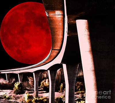 Digital Art - Bridge On Red Planet by Lisa Redfern