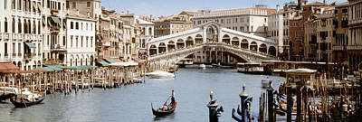 Bridge Over A Canal, Rialto Bridge Art Print