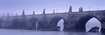 Vltava Photograph - Bridge Over A River, Charles Bridge by Panoramic Images