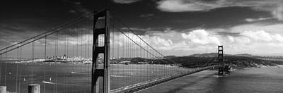 Vibrant Color Photograph - Bridge Over A River, Golden Gate by Panoramic Images