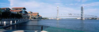 Florida Bridge Photograph - Bridge Over A River, Main Street, St by Panoramic Images