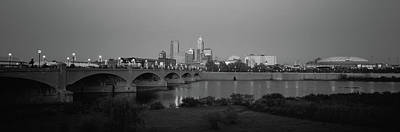White River Photograph - Bridge Over A River With Skyscrapers by Panoramic Images