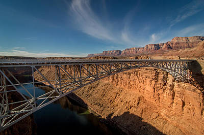 Colorado River Photograph - Bridge Over Colorado River by Michael J Bauer