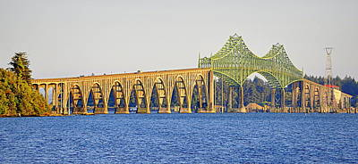 Photograph - Bridge Over Coos Bay by AJ  Schibig