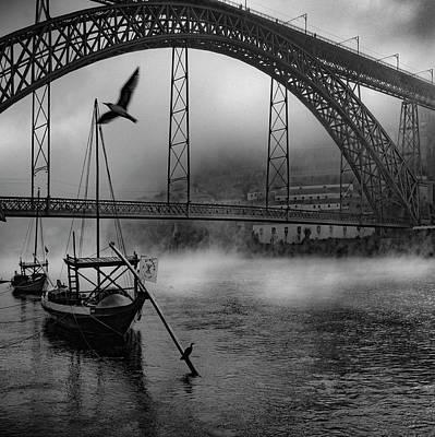 Porto Wall Art - Photograph - Bridge Over Douro by Fernando Jorge Gon?alves