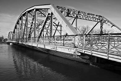 Bridge Over Flooding River Print by Donald  Erickson