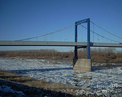 Photograph - Bridge Over Icy River by Mark McReynolds