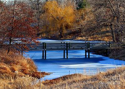 Photograph - Bridge Over Icy Waters by Elizabeth Winter