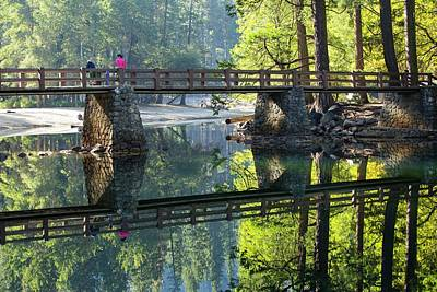 Fir Trees Photograph - Bridge Over Merced River by Ashley Cooper