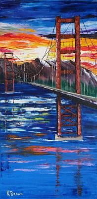 Bridge Over Ocean Art Print