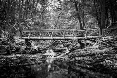 Photograph - Bridge Over Placid Waters Painted Bw by Rich Franco
