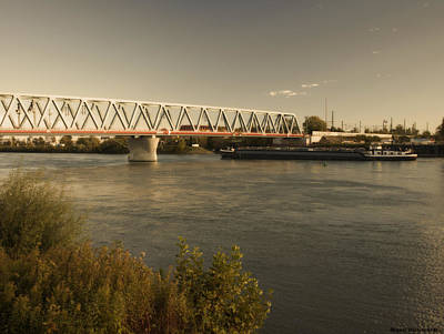 Photograph - Bridge Over Rhein River by Miguel Winterpacht