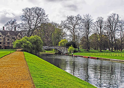Bridge Over River Cam Art Print