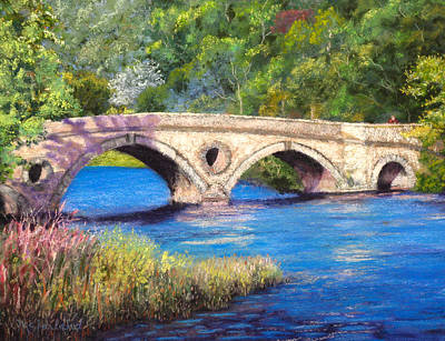 Pastel - Bridge Over River Tay by Lorraine McFarland
