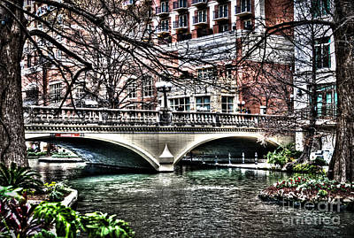 Art Print featuring the photograph Bridge Over San Antonio River by Deborah Klubertanz