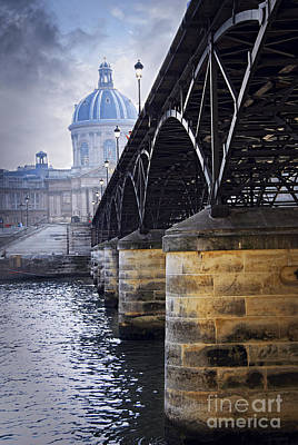 Bridge Over Seine In Paris Art Print by Elena Elisseeva