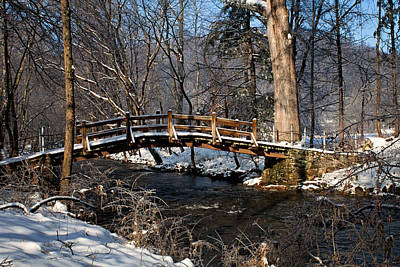 Photograph - Bridge Over Snowy Valley Creek by Michael Porchik