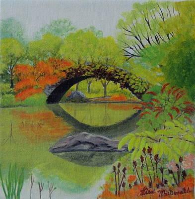 Bridge Over Still Water Original by Lisa MacDonald