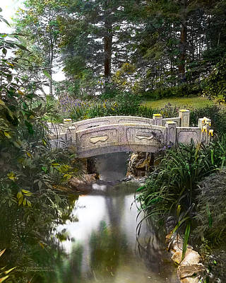 Paths Photograph - Bridge Over Stream by Terry Reynoldson
