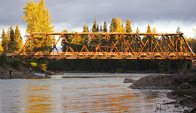 Photograph - Bridge Over The Bulkley River Telkwa British Columbia by Mary Lee Dereske