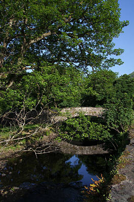 Photograph - Bridge Over The River At Rydal Water by Graham Hawcroft pixsellpix