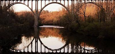Bridge Over The River Cuyahoga Art Print by Patricia Januszkiewicz