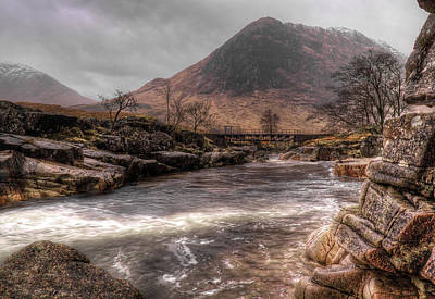 Photograph - Bridge Over The River Etive by Fiona Messenger