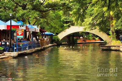Bridge Over The Riverwalk Art Print