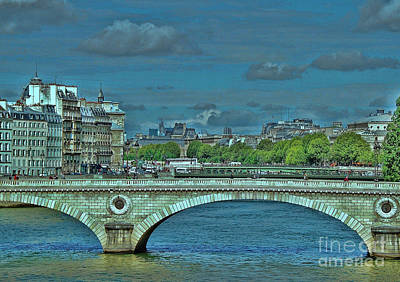 Photograph - Bridge Over The Seine 2 by Allen Beatty