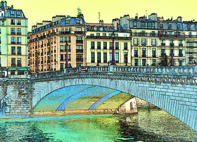 Photograph - Bridge Over The Seine 3 by Allen Beatty