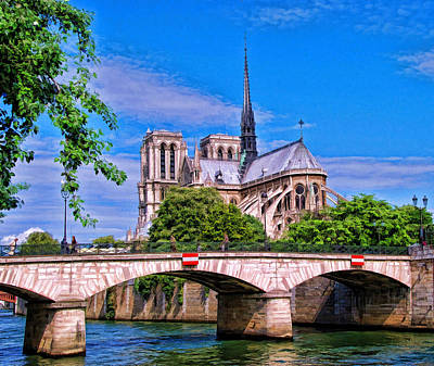 Photograph - Bridge Over The Seine  by Allen Beatty