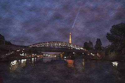 Photograph - Bridge Over The Seine by Bill Howard