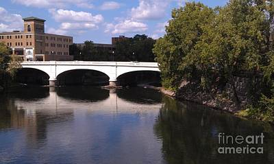 Bridge Over The St. Joseph River  --  South Bend Art Print by Anna Lisa Yoder