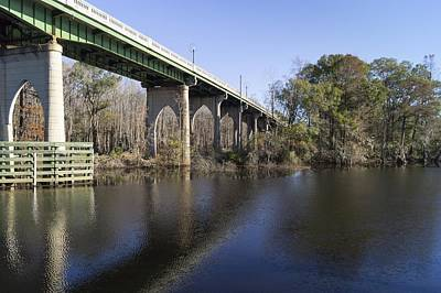 Photograph - Bridge Over The Waccamaw In Autumn by MM Anderson