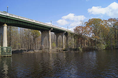Photograph - Bridge Over The Waccamaw River In Spring 1 by MM Anderson