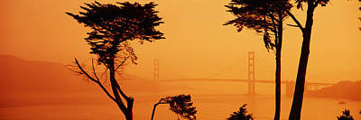 Bridge Over Water, Golden Gate Bridge Art Print by Panoramic Images