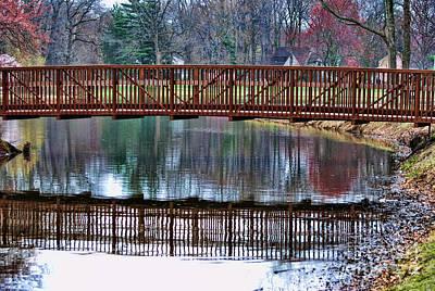 Autum Photograph - Bridge Over Water by Paul Ward