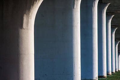 Photograph - Bridge Patterns 1 by Richard Goldman