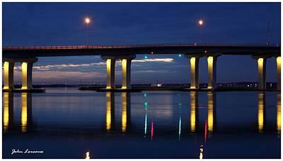 Somer Photograph - Bridge Reflections 2 by John Loreaux