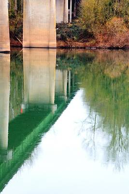 Jerry Sodorff Royalty-Free and Rights-Managed Images - Bridge Reflections 20877 by Jerry Sodorff