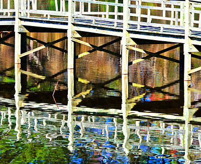 Art Print featuring the photograph Bridge Reflections by John Harding