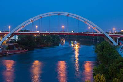 Bridge Reflections Art Print by Robert Hebert