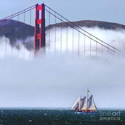 Bridge Sailing Art Print