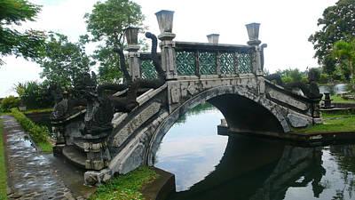 bridge side Bali Art Print by Jack Edson Adams