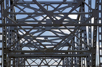 Central Il Photograph - Bridge Structure by Thomas Woolworth