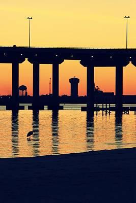 Bridge Sunset Art Print by Hillery Bosarge