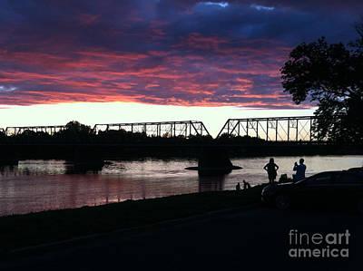 Bridge Sunset In June Art Print