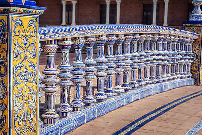 Ceramics Photograph - Bridge Tiling Plaza De Espana Seville by Joan Carroll