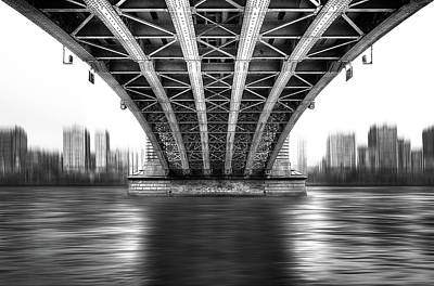 Abstract Skyline Wall Art - Photograph - Bridge To Another World by