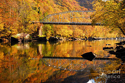 Photograph - Bridge To Autumn by Larry Ricker